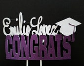 Congratulations Congrats Gradualtion Celebration Happy Birthday Cake Topper CUSTOMIZE colors and words