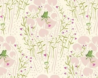 Frog Prince Pink Far Far Away Heather Ross Windham Fabrics 1 Yard