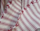 VERY FRENCH Rairoaded Woven color RED  Stripe Cotton fabric