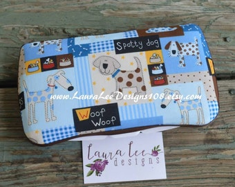 Blue Puppies Boutique Style Travel Baby Wipe Case