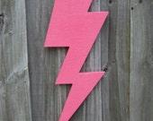 Wooden Lightning Bolt, Thunder Storm, Wall Decor, You Choose Color