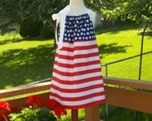 The American Flag Pillowcase Dress, Size 2, 3, 4, 5, 6, 7, 8, 10, 12, and 14.