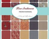 """ON SALE Rue Indienne French General Moda Quilt Fabric Moda Charm Pack 42 squares 5"""""""