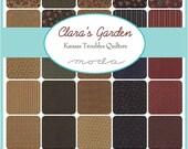 "ON SALE Clara's Garden Kansas Troubles Moda Charm Pack Moda Quilt Fabric  42 squares 5"""