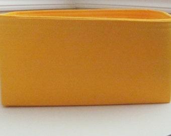 Purse Insert ORGANIZER Purse Shaper . .Yellow ..Good match for Lv Mimosa . -Fits LV Neverfull MM (12x6x6)
