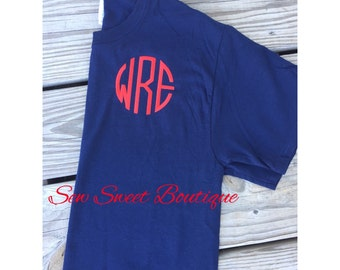 Sale Embroidered Monogram Tee Shirt
