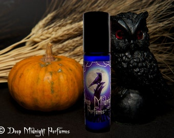 SAMHAIN NIGHT Perfume Oil - Frankincense, Amber, Apples, Red Wine - Gothic Perfume