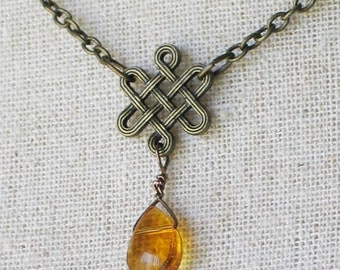 Celtic Knot Necklace / Outlander Inspired / Scottish Jewelry / Irish Jewelry
