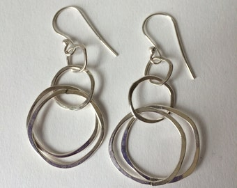 Hand Formed Organic Circles Earrings