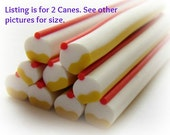 Cupcake Cherry Candy Clay Canes Cooked Polymer Clay Nail Art Kawaii Fake Faux Food Miniature