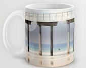 Art Coffee Cup Mug Boardwalk 1 fine art Modern Geometric Nautical Beach photography home decor Java Lovers