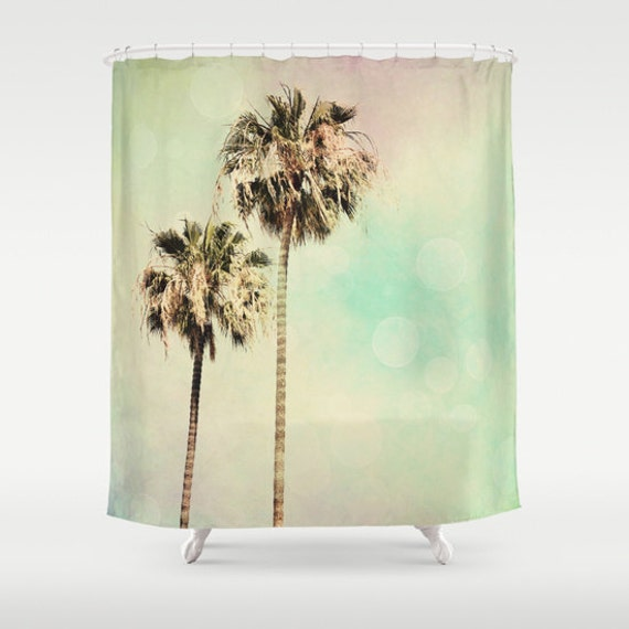 Art Shower Curtain Palm Trees 1 Fine Art By Sylviacphotography