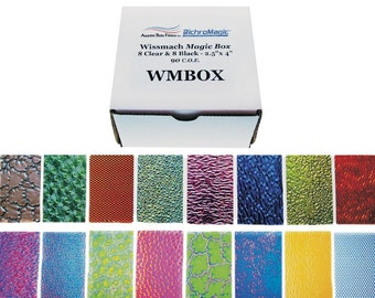 Wissmach Magic Box Dichoric Glass Sampler COE 90 - Black & Clear 1 pound