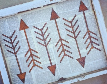 Rusty Metal Chippy Arrow Wedding Decor Junk Love and Co