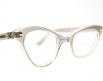cat eye glasses graysmoke vintage cateye eyeglasses