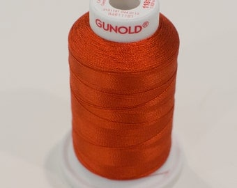 Sulky Rayon Machine  Embroidery Thread -- 1181 Rust Burnt Orange