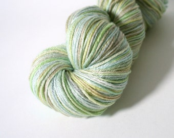 hand dyed yarn, hand painted yarn, handdyed yarn, handpainted yarn, silk yarn, sock weight