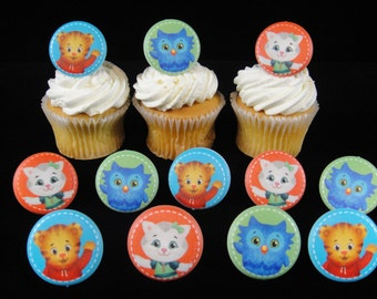Daniel Tiger Cupcake Rings, Daniel Tiger Party, Daniel Tiger Party Favor, Party Favor, Cupcake Rings, Favor Rings- Qty 12
