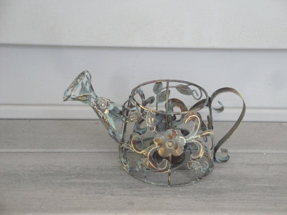 Unusual metal candle holder watering can votive by bluewater930 - Unusual watering cans ...