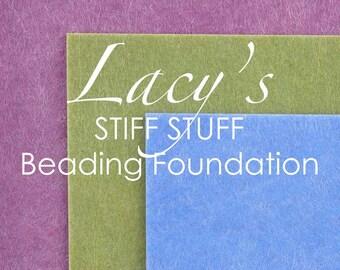 "Supplies-Lacy's Stiff Stuff-Beading Foundation-5.5""x4.5"" Pre-Dyed-Aqua-Green-Purple-Quantity 3"