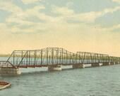 Bay of Quinte Bridge Belleville Ontario Vintage Postcard circa 1910