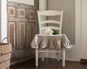 Ruffled Linen Seat Cover with a 6 inch Ruffle