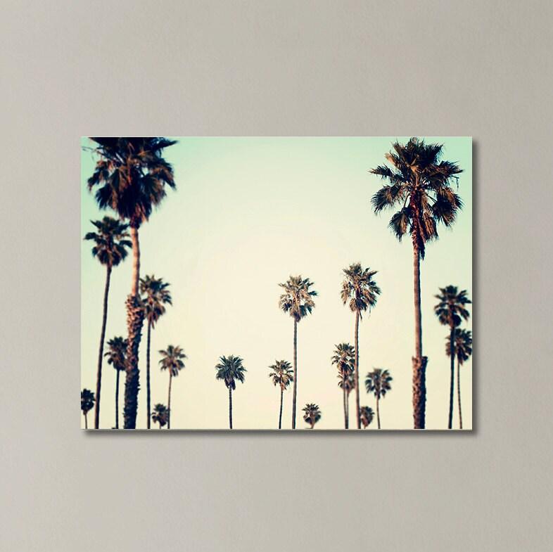 Palm Tree Canvas California Wall Art Palm Tree Photography