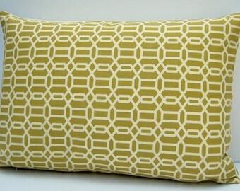 Green Geometric Pillow Cover, Kiwi Green Throw Pillow, 14x20 Lumbar Pillow, Kiwi Green Cushion Cover