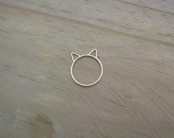 14k Gold Filled Kitty Ring. Cat Ring. Kitty Ring. Rose Gold Kitty Ring. Rose Gold Cat Ring. I Love My Kitty. Kitty Jewelry. Cat Jewelry.