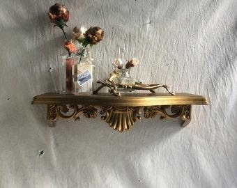 Vintage regency shelf    Homco shelf  display shelf