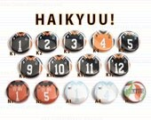 Haikyuu! Pin Back Buttons 1-inch