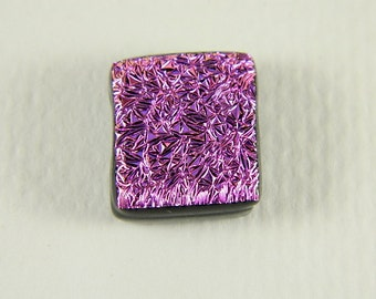Pink  Dichroic Fused Glass Bead/Pendant- 13