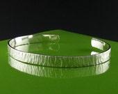 Delicate Hammered Sterling Silver Cuff Bracelet-Handmade