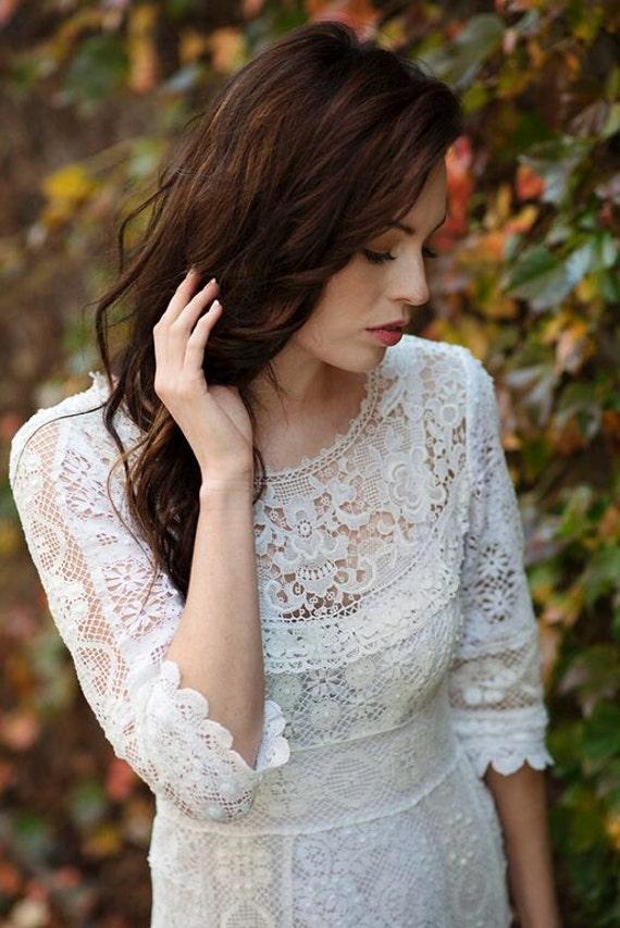 Boho Wedding Dress Nottingham : Edwardian vintage nottingham lace wedding by lostinparisbridal
