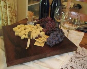 Cheese Board,Cuting Board, Black Walnut