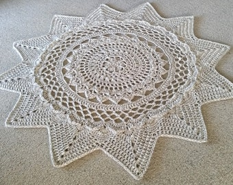 Radiance Floor Rug Crochet Pattern - US Terms