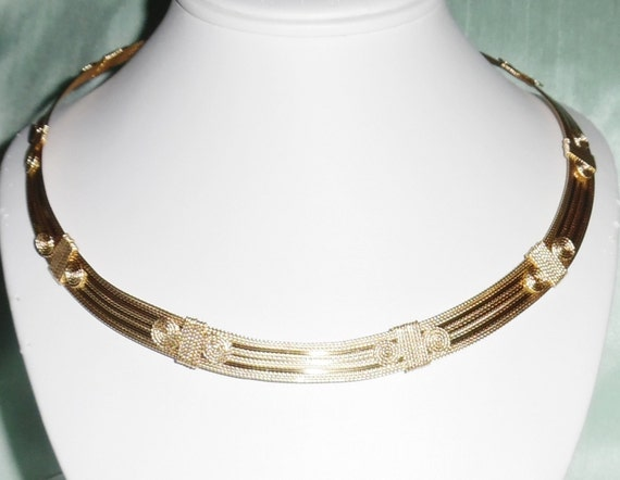 "CUSTOM MADE to order 20"" x 1/2"" wide Omega 14kt yellow gold Necklace"
