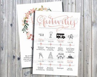 Printable Floral Monogram Timeline with Welcome Letter