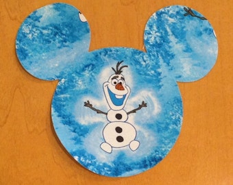 Olaf Frozen Mickey Mouse Inspired Iron On Applique