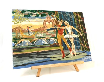 Vintage Art Award 1960s paint by number - Scenes from the Swan Lake Ballet