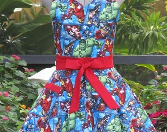Marvel Characters Apron - Full of Twirl Flounce
