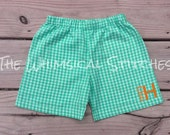 Boys Monogrammed Shorts, Monogrammed Shorts, Personalized Shorts, Free Personalization, Fast Ship