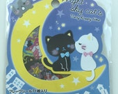 Holographic Black & White Cat Sticker Flakes Set - 71 Sheets SS448