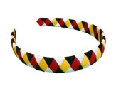 Mickey Minnie Mouse Woven Headband - Fish Extender Gift - Black, Yellow, Red, White Headband - University of Maryland - Terrapins - FE gifts