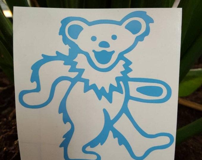 Grateful Dead Dancing Bear Outline Vinyl Decal Sticker