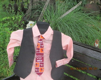 Virginia Tech boys necktie