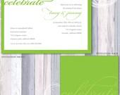 Celebrate Script Invitation Suite