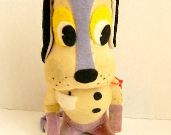 Vintage Stuffed Animal Plush Dog Dakin Dream Pets Doctor Made in Japan 1950