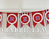 Fireman Layered Pennant Banner by Loralee Lewis