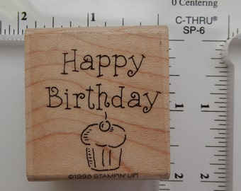 Birthday themed - Stampin Up -  Cupcake - WM rubber stamp  (1)